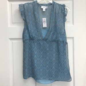 Ann Taylor Loft Sheer Blouse with Camisole